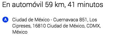 Ciudad de México a Cuernavaca